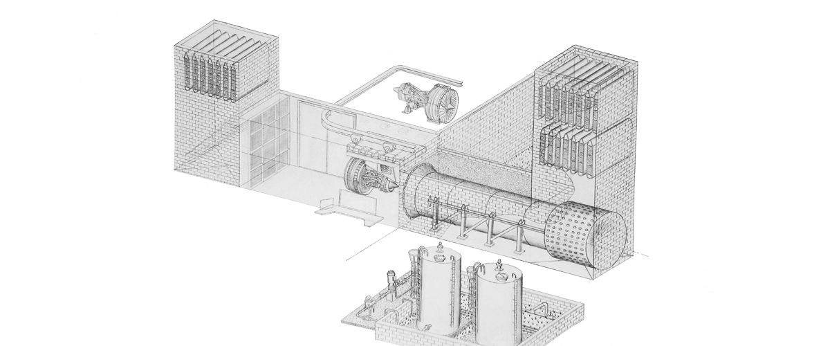Gas Turbine Engine Test Facility Illustration